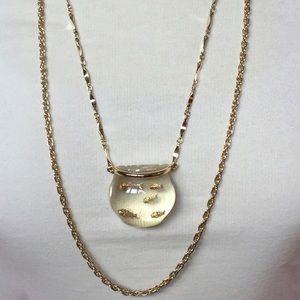 Vintage Lucite Goldfish Bowl Pendant Necklace